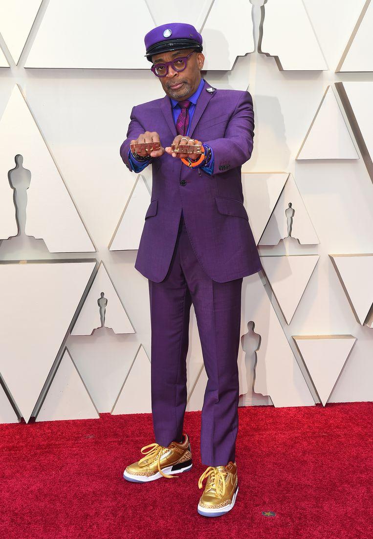 Regisseur Spike Lee, die met zijn film 'BlacKkKlansman' genomineerd is in drie categorieën, koos voor koninklijk paars.
