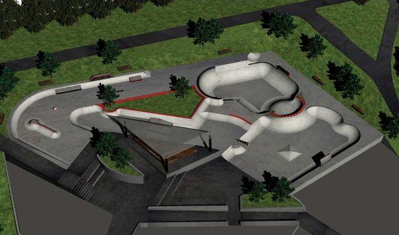 Het ontwerp van het Noorse skatepark