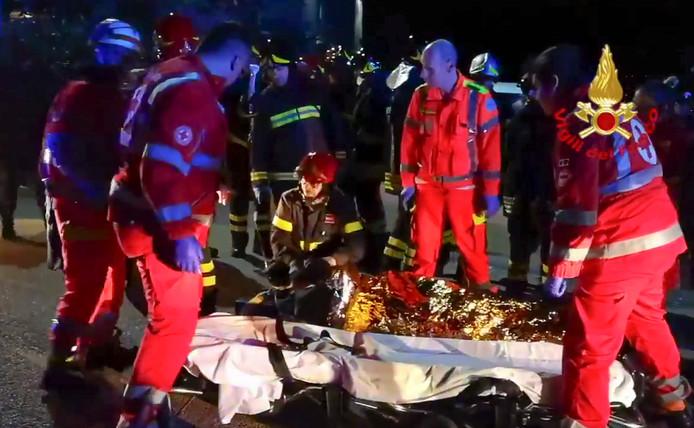 De slachtoffers werden onder de voet gelopen, nadat paniek uitbrak.