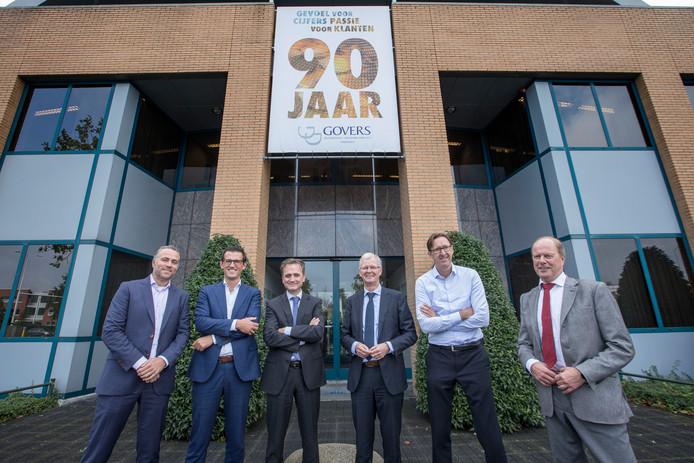 De vennoten van Govers: Rudi van den Heuvel, Bas Pijnakker, William de Wijs, Paul Mencke, Jos Follon en Hans Evers (vlnr).