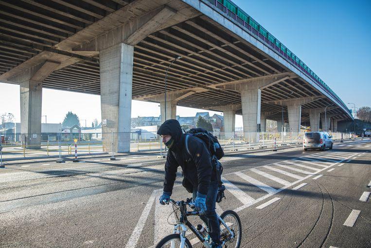 onderhoudswerken aan het viaduct van gentbrugge