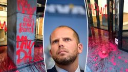 N-VA-hoofdkwartier besmeurd met tekst 'Mawda, killed by N-VA politics'
