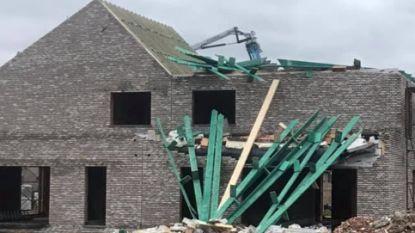 Storm Ciara in Limburg: pasgelegd dak gaat vliegen, klanten zitten vast in restaurant, lagere scholen maandag gesloten