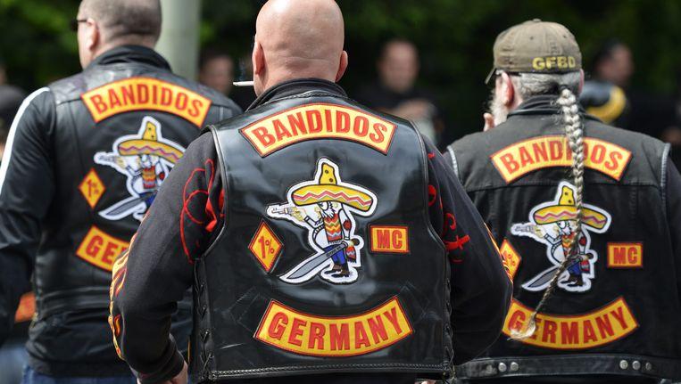 Leden van de Duitse afdeling van Bandidos. De motorclub heeft sinds dit weekend vermoedelijk een afdeling in Nederland. Beeld EPA