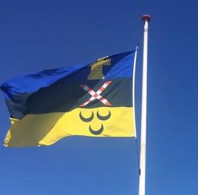 De nieuwe gemeentevlag van de gemeente Meierijstad.