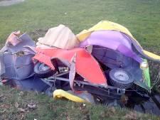 Carnavalswagen weggehaald uit schuur Etten-Leur, teruggevonden in sloot