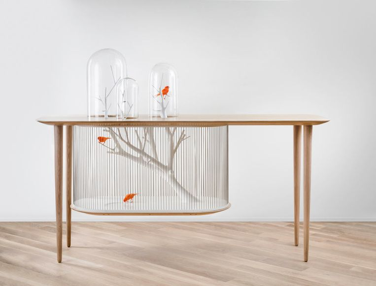 Birdcage Table. Concept.