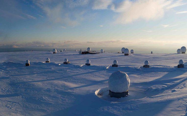 In Spitsbergen (en in Delft) komen de gegevens die de satelliet van Hiber verzamelt, binnen. Beeld null