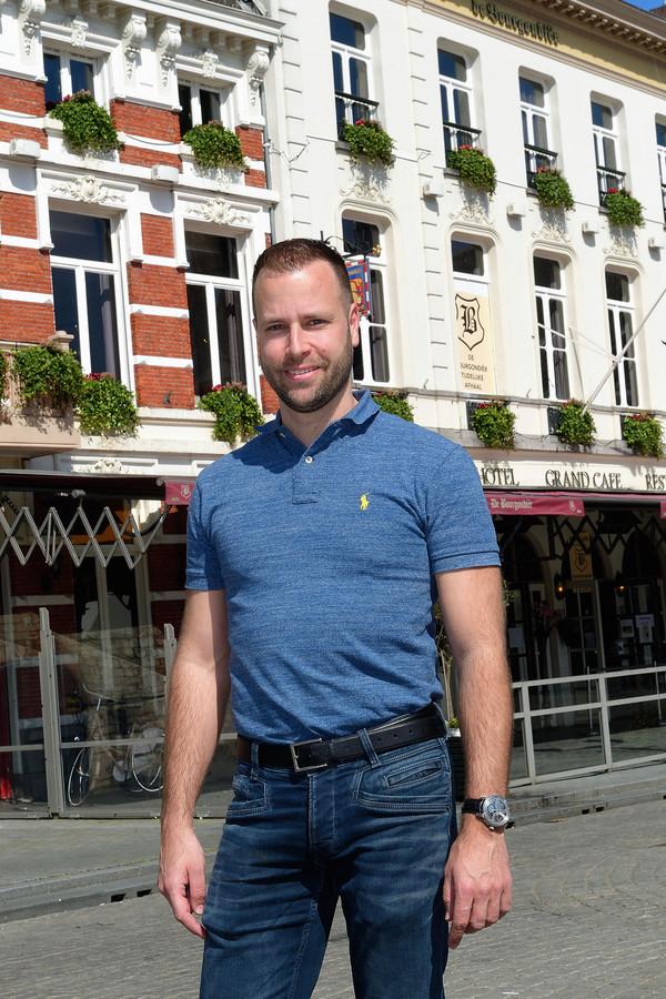 Jimmy Devilee, eigenaar van restaurant De Bourgondiër op de Grote Markt in Bergen op Zoom.