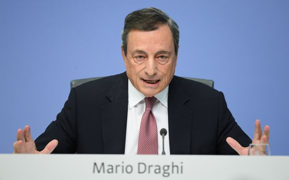ECB-voorzitter Mario Draghi.