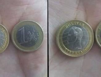 Bijna geen verschil: politie waarschuwt voor Venezolaanse munt die héél hard op munt van 1 euro lijkt
