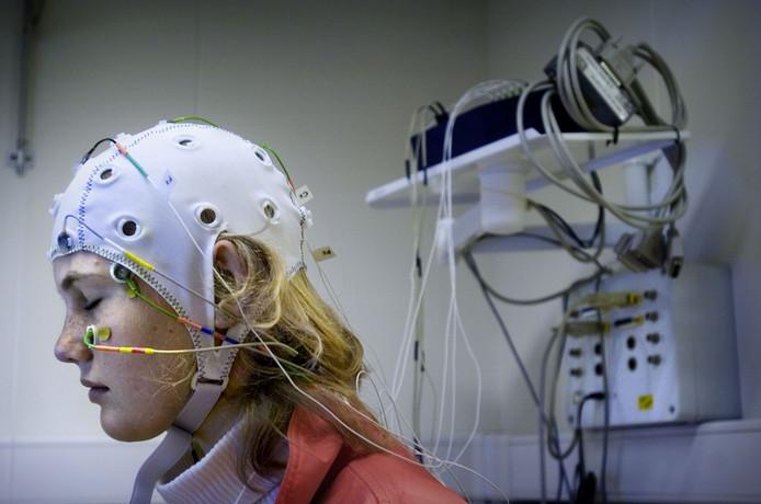 Een EEG hersenkap