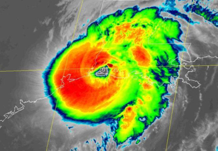 Orkaan Laura kwam om 08.00 uur Nederlandse tijd aan land in de staat Louisiana.