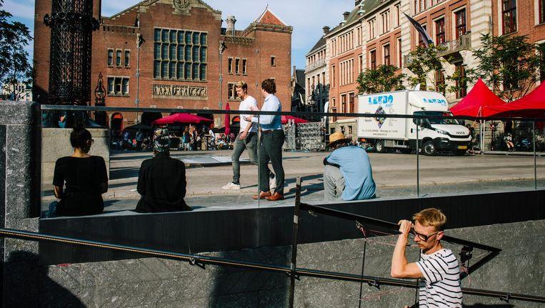 Het vernieuwde Beursplein met ondergrondse fietsparkeergarage is vrijdag geopend Beeld Marc Driessen