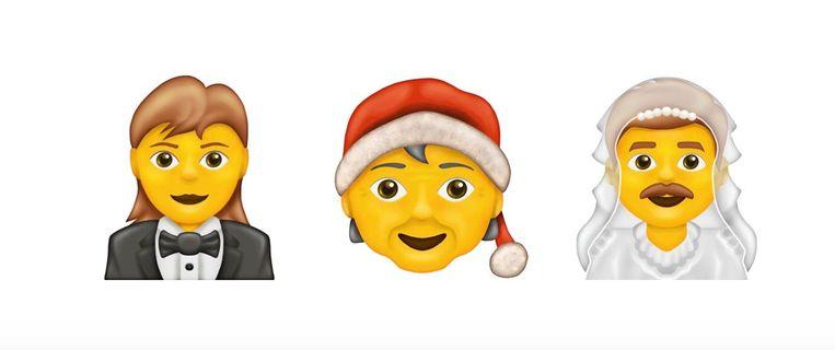 De nieuwe genderneutrale emoji's.