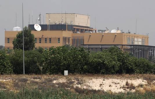 De Amerikaanse ambassade in Bagdad.