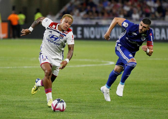 Memphis kreeg de schrik van zijn leven toen hij thuis terugkeerde na de wedstrijd tegen Nice.