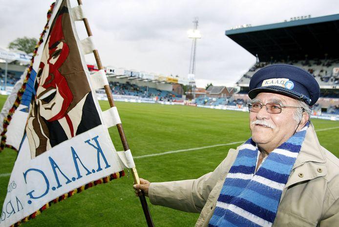 Günter Steller in 2009 in het Ottenstadion, de vorige thuisbasis van KAA Gent.