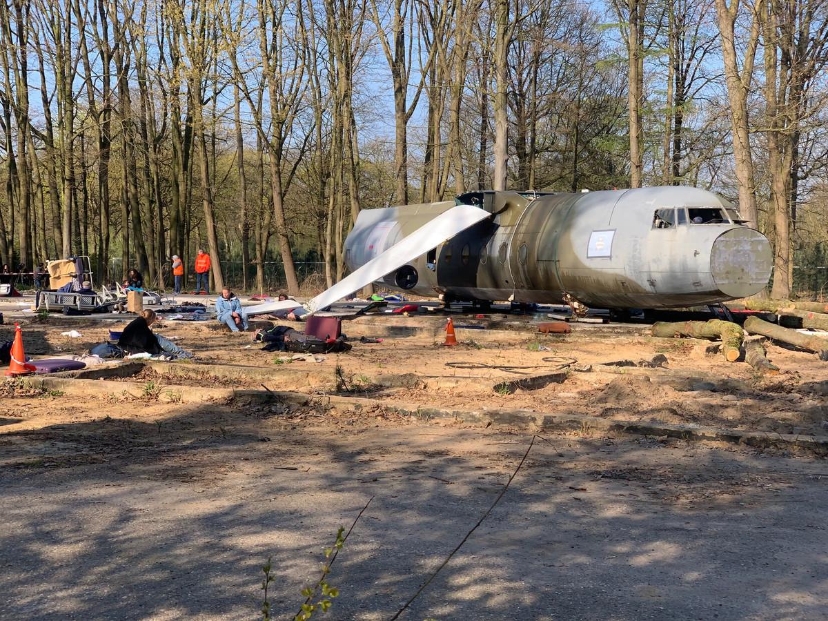 Een zogenaamd neergestort vliegtuig.