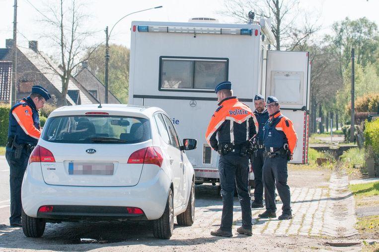 De politie in actie tijdens de flitsmarathon.