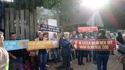 Meer dan 400 actievoerders hekelen opgelegde sluiting Olmense Zoo