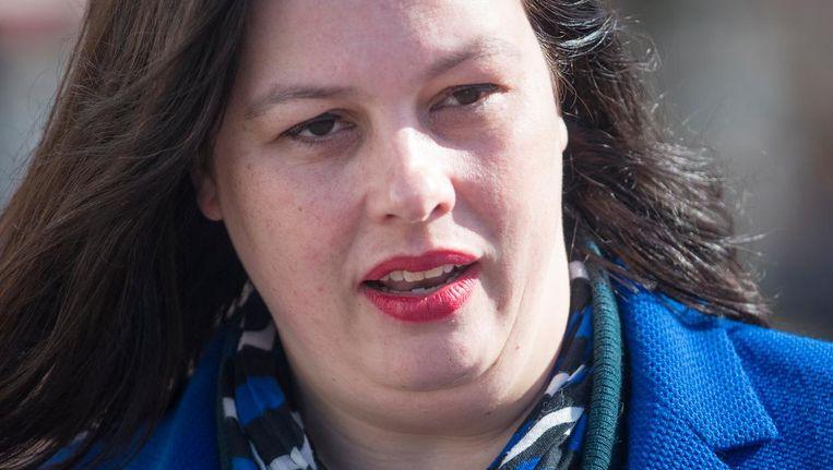 Annabel Nanninga van nieuwkomer Forum voor Democratie spreekt over 'ouderwets graaisocialisme'. Beeld ANP