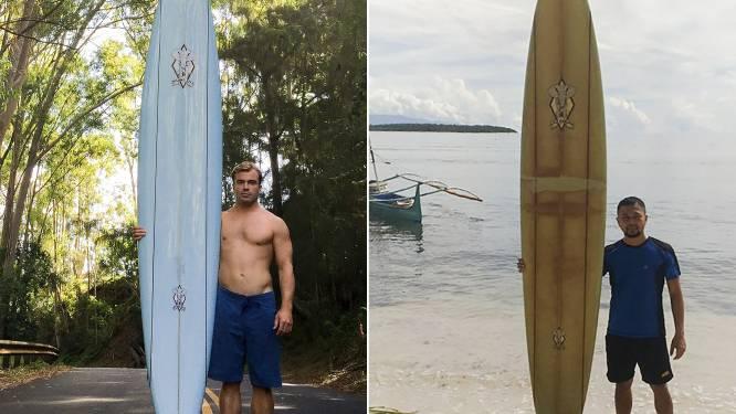 Surfplank duikt twee jaar later en 8.000 km verder terug op