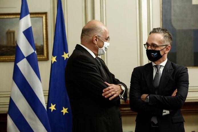 Nikos Dendias et son homologue allemand Heiko Maas