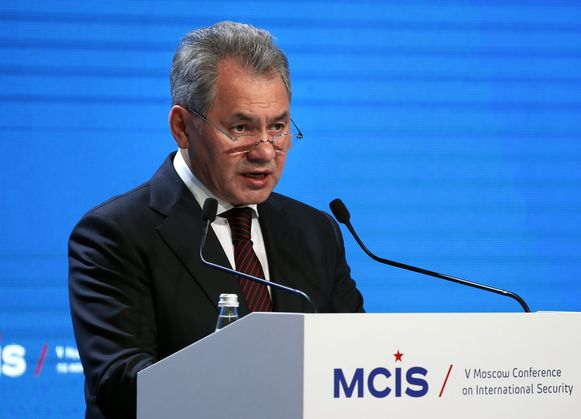 De Russische minister van Defensie Sergej Sjojgoe.