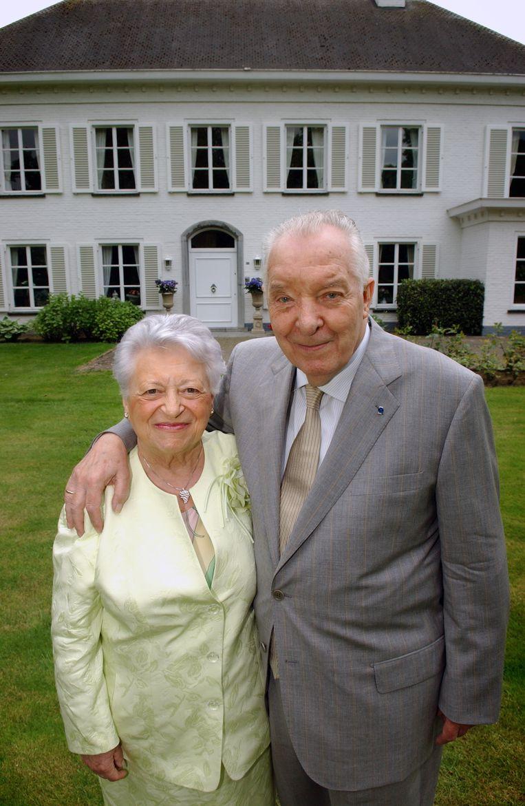 Diane Verbist-Vandewijngaerden en Alfons Verbist  in 2005, toen ze hun 50ste huwelijksverjaardag mochten vieren.