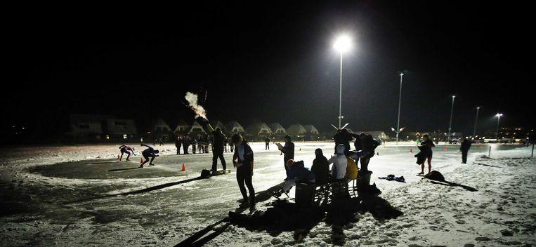 Het NK kortebaan in Lemmer Beeld ANP