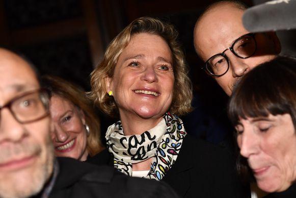Delphine Boël is zichtbaar erg verheugd met de beslissing van het hof van Cassatie, de hoogste rechtbank van het land.