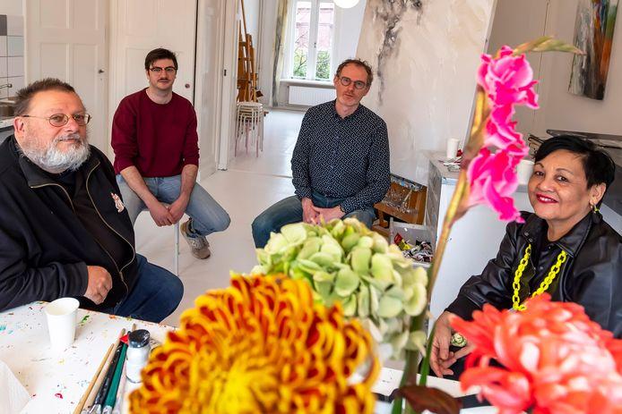 Vier zzp'ers in de culturele sector: Sonn Franken , Wouter van de Watering, Janno Den Engelsman, Dees Goosen (van links naar rechts).