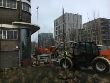Stootblok op zijn plaats bij Veemgebouw Eindhoven