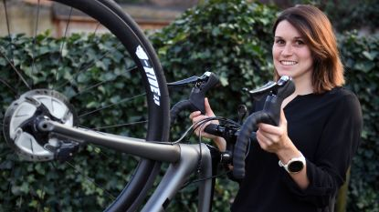 """Ook vriendin van profrenner Jasper Stuyven heeft sportmicrobe te pakken. Elke Bleyaert: """"Ik ben wel érg competitief"""""""