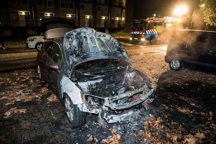 De politie sluit niet uit dat er sprake is van brandstichting. Het voertuig wordt nog onderzocht door de forensische opsporing.