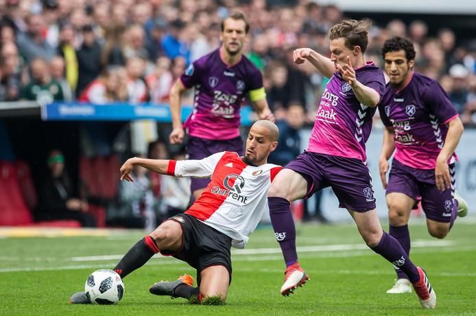 Feyenoord - FC Utrecht, vorig jaar, toen Yassin Ayoub nog voor FC Utrecht speelde.