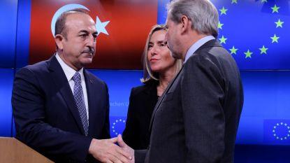 Gesprekken in Brussel brengen Turkije en EU geen stap dichter bij elkaar