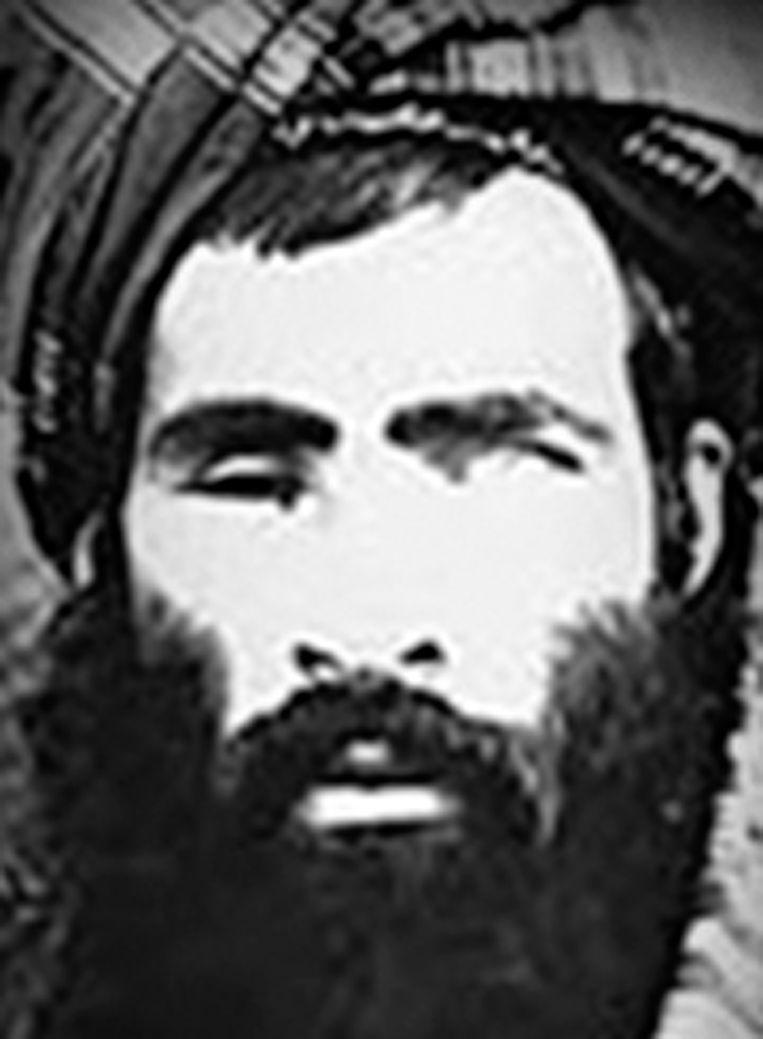 Een ongedateerde foto van Taliban-leider Mullah Omar van het National Counterrorism Center van de VS. Beeld null