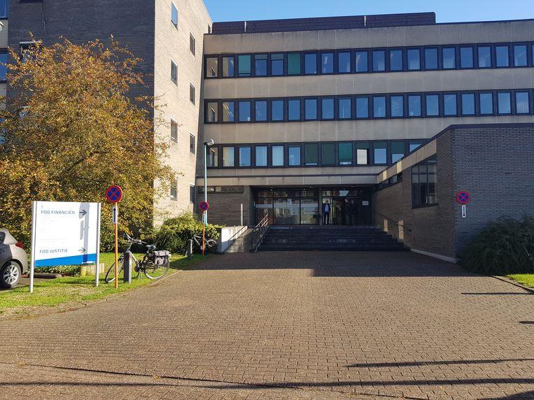 De politierechtbank in Halle.