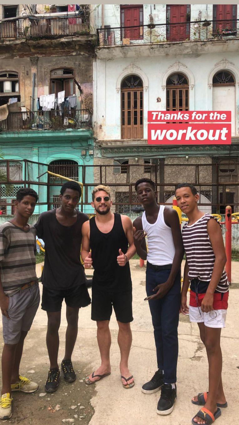Mertens maakte vrienden in Cuba.