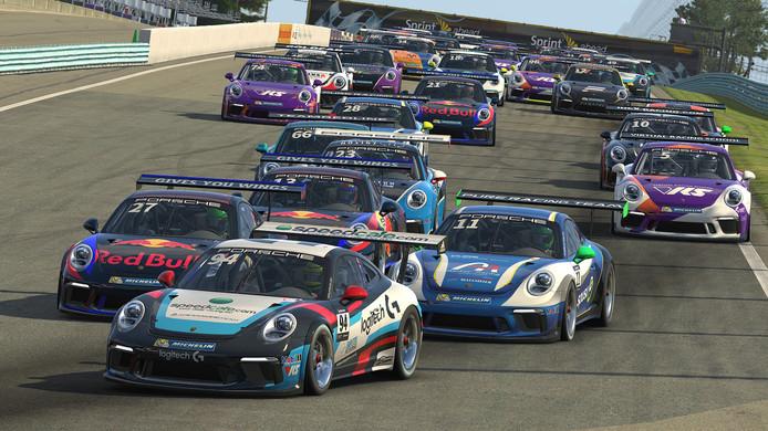 Porsche richt als eerste grote automerk een eigen esports-team op en rijdt dit weekend de eerste officiële race.