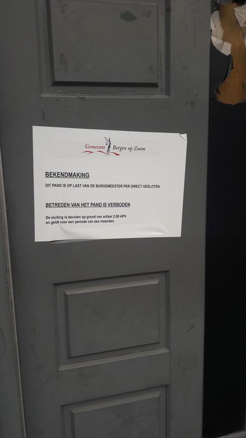 Pure Lounge in Bergen op Zoom is op last van de burgemeester gesloten voor zes maanden.