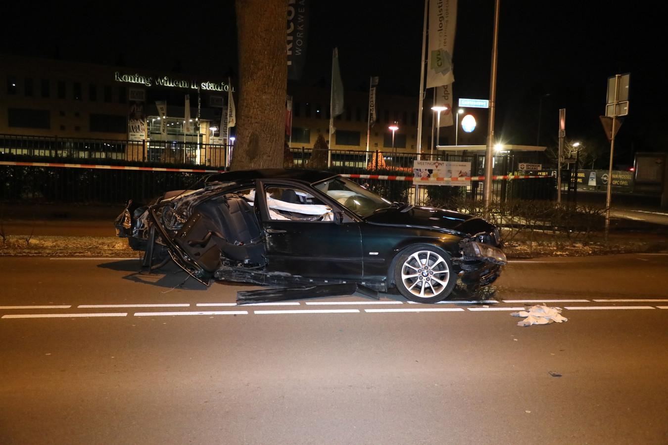 Het ongeluk gebeurde op de Goirleseweg ter hoogte van het Willem II Stadion in Tilburg.