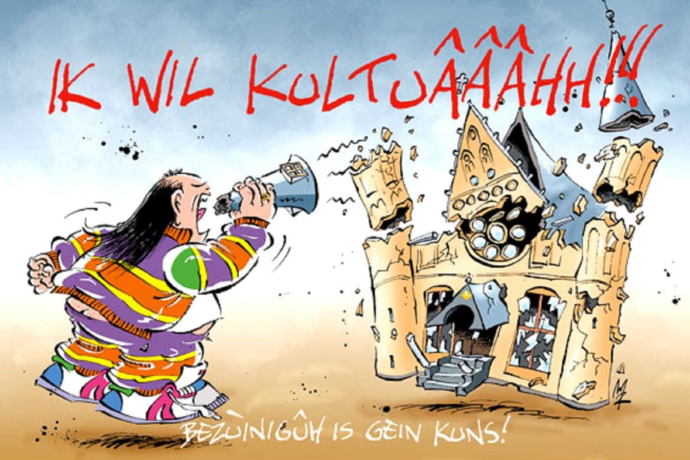 Strip over het volgens Marnix Rueb totaal mislukte Haagse cultuurjaar