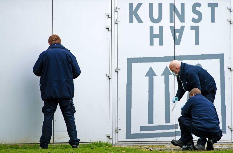 Politieonderzoek bij de Kunsthal in Rotterdam. (Archieffoto oktober 2012) Beeld anp