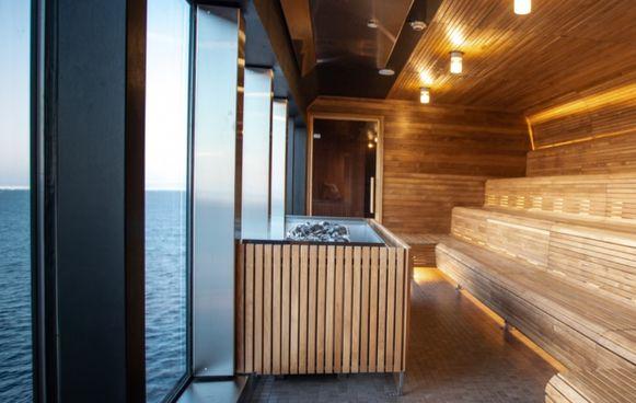 Sauna met spectaculair uitzicht.