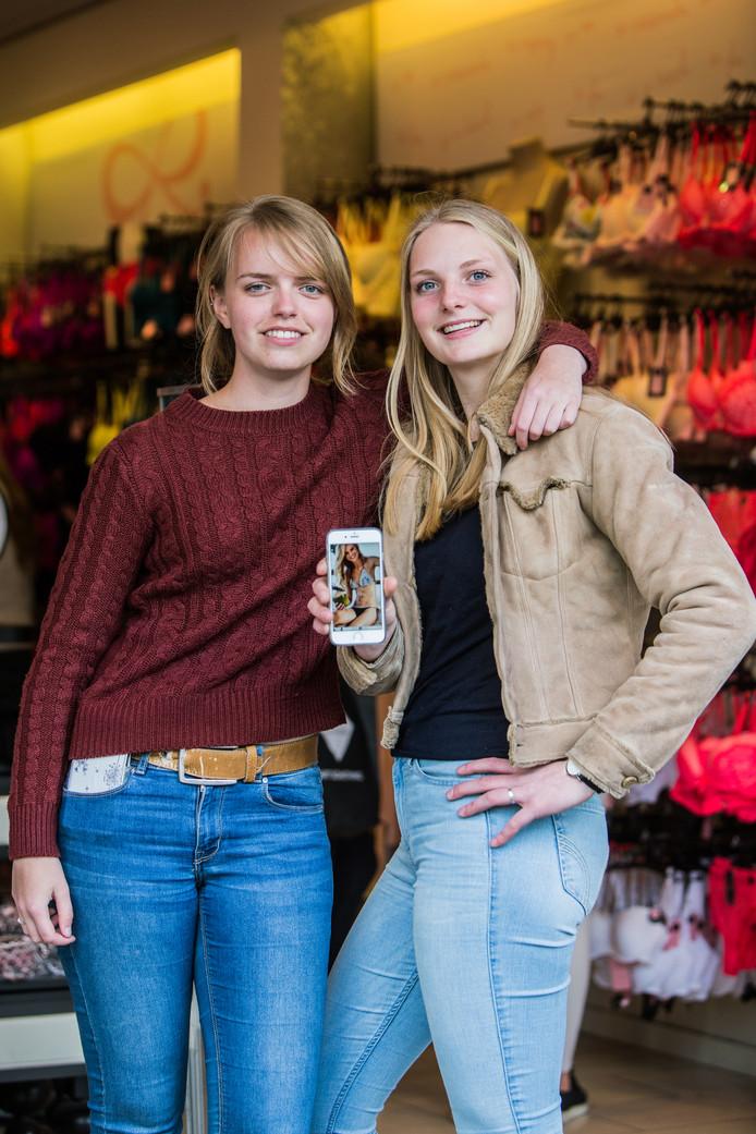Dit zijn Irene en Liselotte (links). Irene zoekt eerst uren online naar kleding, dan gaat ze naar de winkel om te passen en koopt ze het in de winkel. Dus juist andersom dan de internetshoppers.