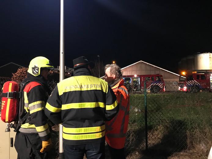 De burgemeester kwam ter plaatse bij de brand in Ammerzoden.