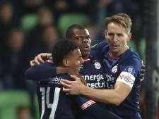 Ploeterend PSV ontdoet zich in slotfase van FC Groningen na rush Dumfries